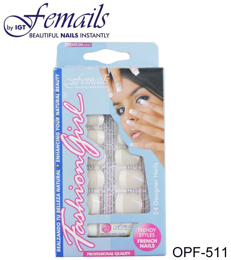 OPF-511 Artificial nails Fashion girl French rose