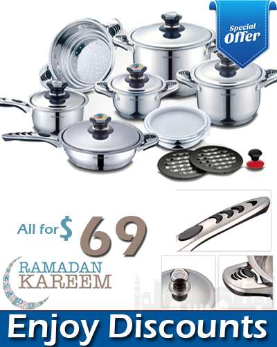 RL-16S 16 Pcs Stainless Steel Cookware Set
