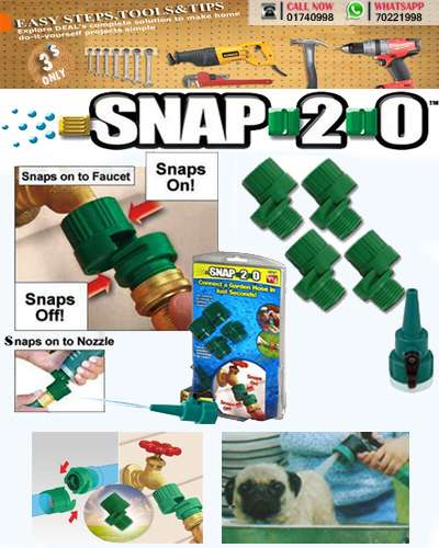 SNAP 2.0 GARDEN WATER HOSE CONNECTORS
