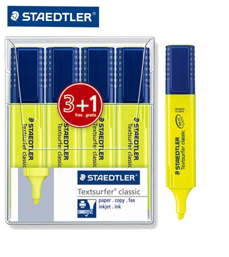 STAEDTLER 4 YELLOW TEXTSURFER CLASSIC