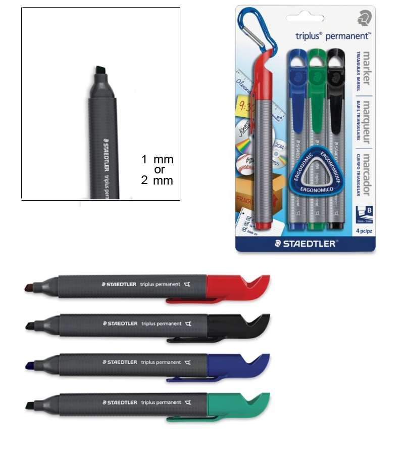 STAEDTLER Set of 4 Triplus Permanent Markers