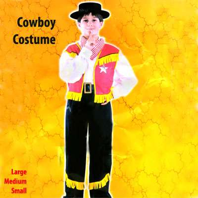 Boys Wild West Cowboy Halloween Party Fun Fancy Dress Costume