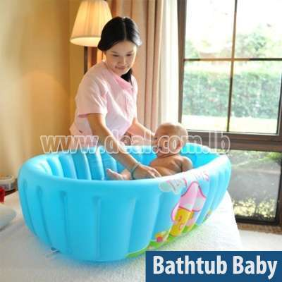 Children's inflatable bathtub baby