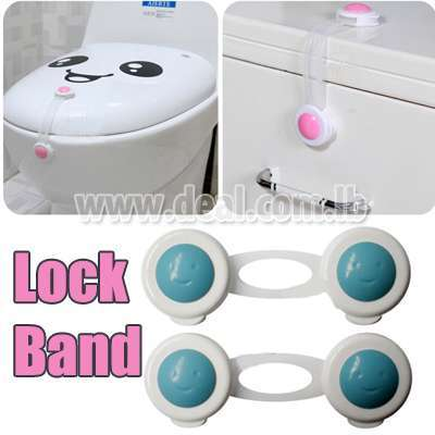 2 Pcs New Adhesive Tape Lock Band for Cabinet Door Armoire