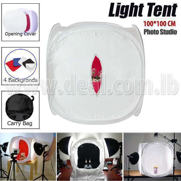 100x100cm Photo Studio Light Cube Tent Softbox With Color Backgrounds Deal-279