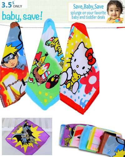 Set 6 pcs small towels for kids