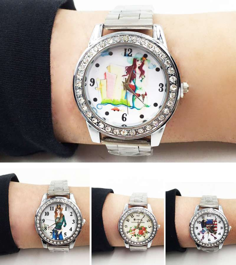 Silver plated  Luxury Women Watch