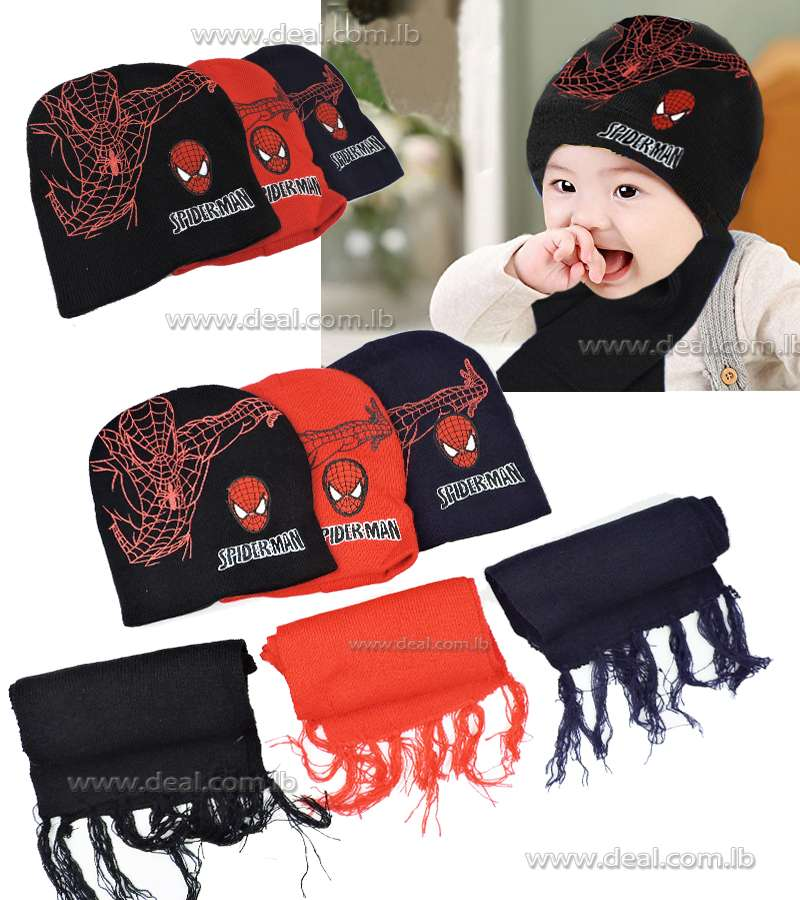 Spiderman Hat and Scarf