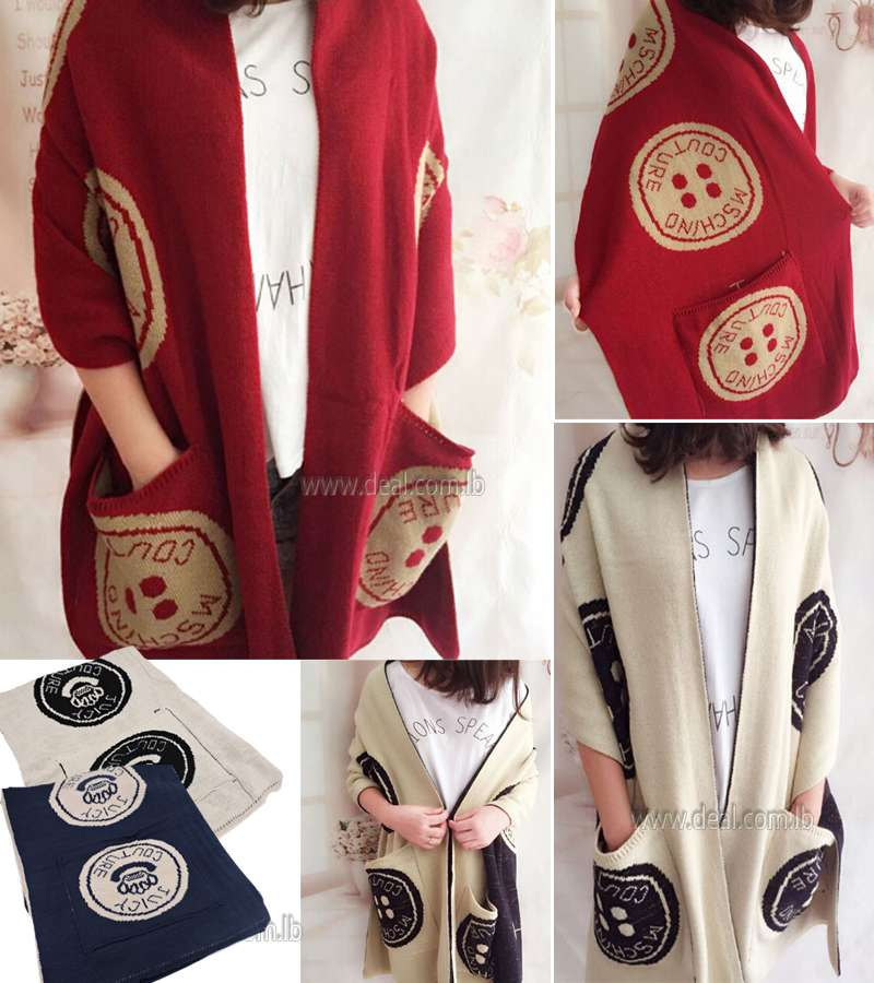 The new scarf Cashmere Fashion Women with Pocket Print Button Blanket Scarf Winter Warm Shawl Wraps Phoncho