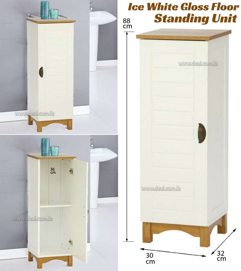 Tu Boston Floor Standing Bathroom Cabinet Bathroom Furniture