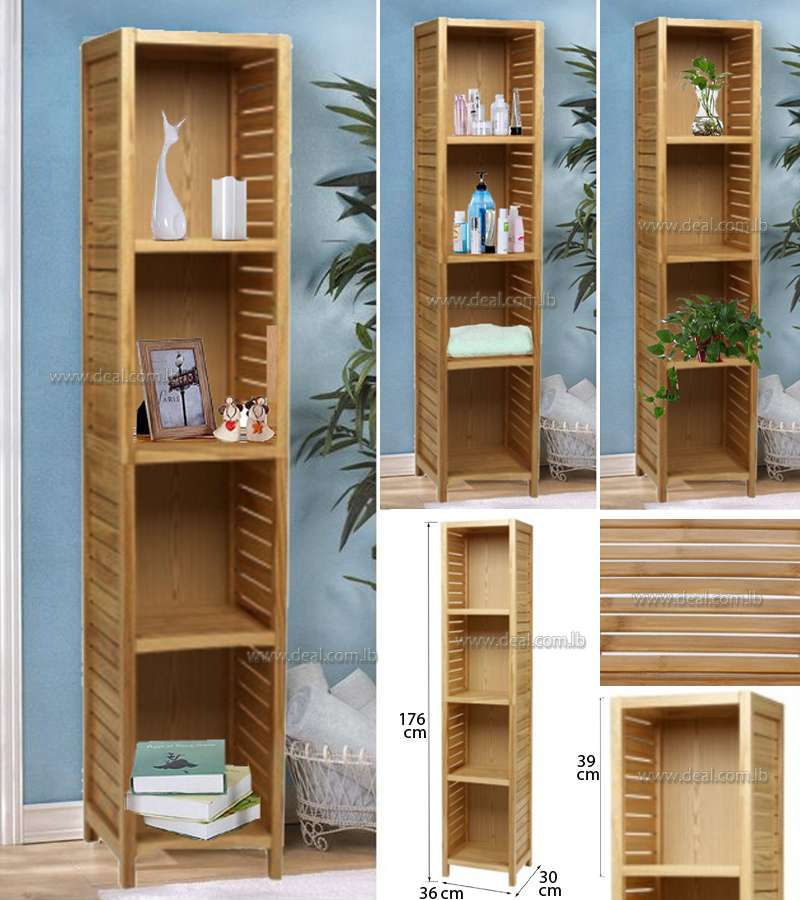 Tu Tall Pine Slatted Unit Natural Storage