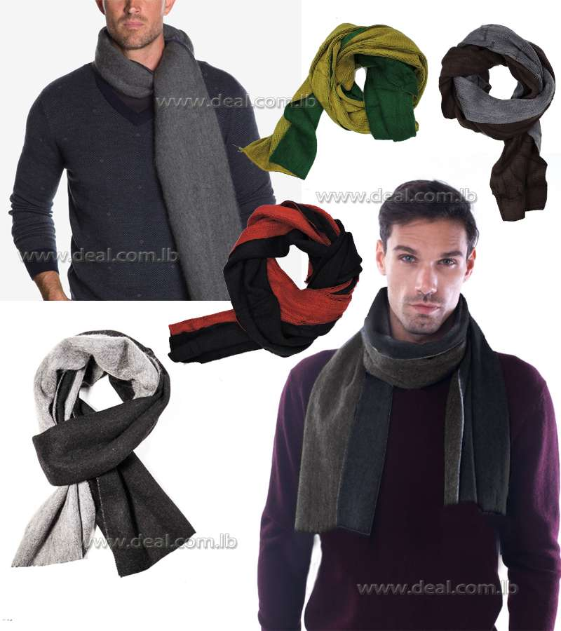 Two Tone Double Faced Scarf