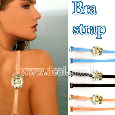 Pearls and butterfly bra strap