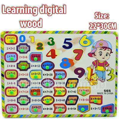 Wooden Puzzle Learning digital 22*30 CM