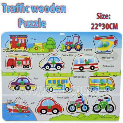 Traffic wooden puzzle 22*30 CM