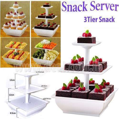 Snack server/2 or 3 tier plastic Wilton snack server stand