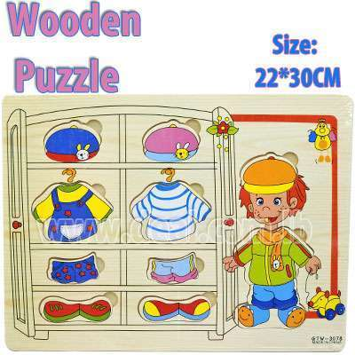 Wooden Clothes Puzzle Toys