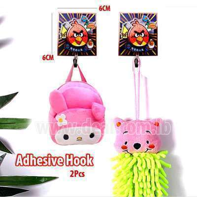 Adhesive Hook manual 2Pcs  angry bird