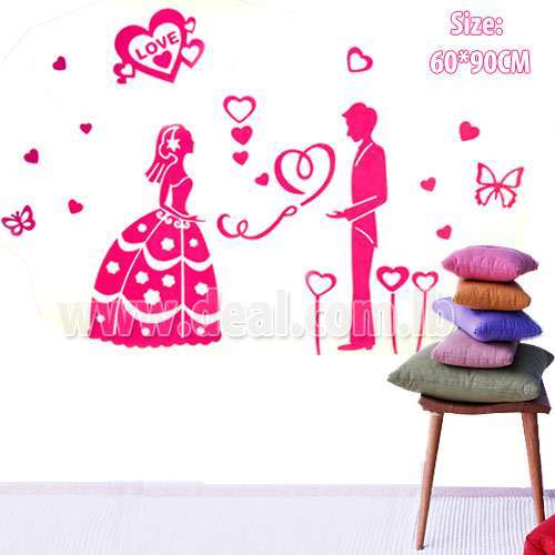 Wall Sticker love girl Decor  60*90 CM