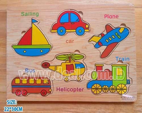 Traffic wooden puzzle board 22*30 cm
