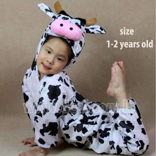 Novel Cartoon costumes Cows Children clothing performance clothing Kids Animal Costumes 1-2 Years