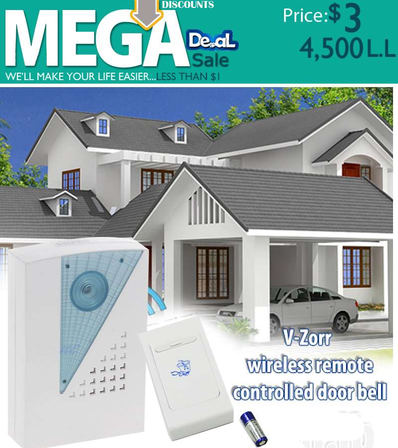 V-Zorr Wireless Remote Control Doorbell