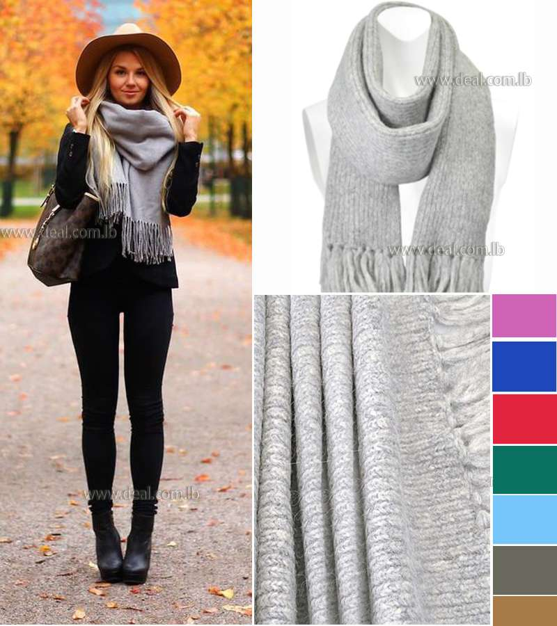 Winter Wool Solid Colors scarf