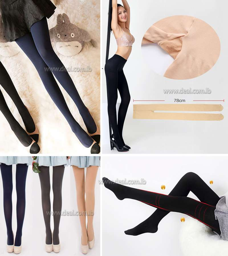 Women Sexy Opaque pantyhose Autumn Winter  Tights Velvet Colorful Stockings Step Foot Seamless Pantyhose