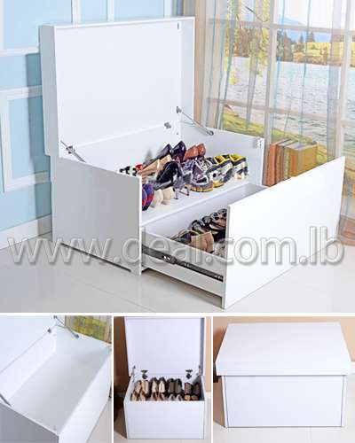 White storage giant shoe box