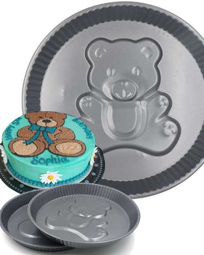 cake mould shaped teddy