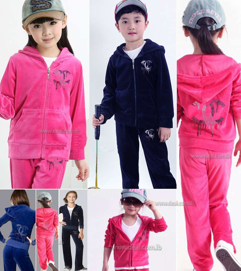chanel tracksuit. children+chanel+velvet+velour+winter+tracksuit chanel tracksuit