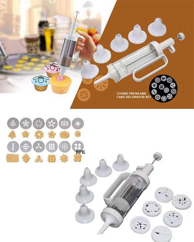 Cookie Press and Cake Decorator Set