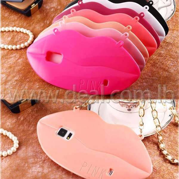 Lips Design with Chain TPU Cover Case for Samsung