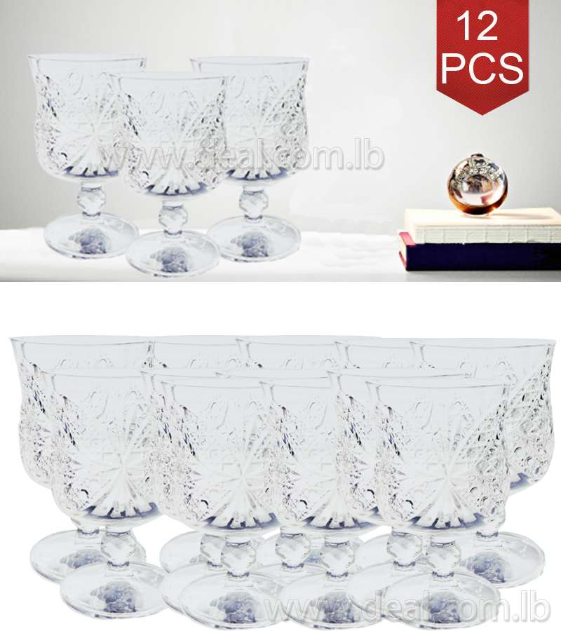 12 PCS Crystal Glassware  Exquisite Article