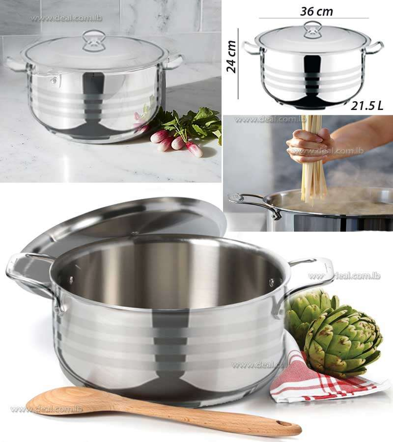 Stainless Steel Deep Pot Viola 21.5L