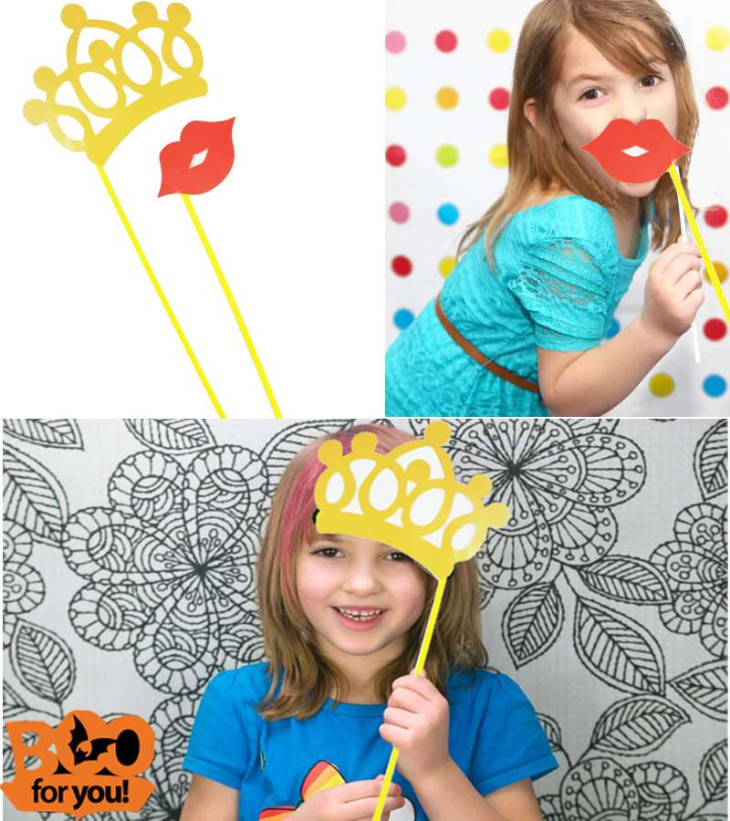 CUTE! Crown & kiss  PhotoProps