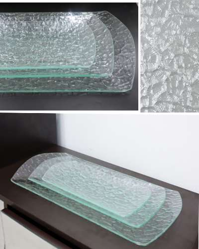 3 pieces  Glass Plates