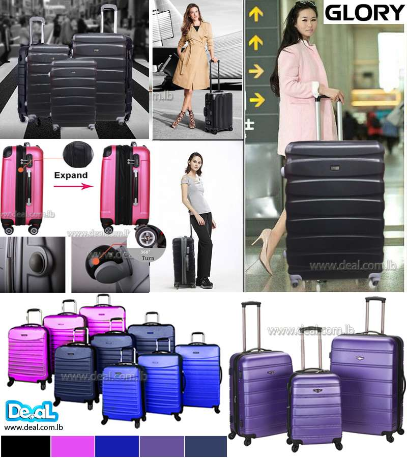 Luggage 3 Piece Set Suitcase  Hardshell Lightweight