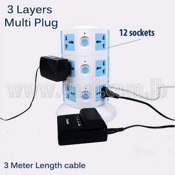 3 Layers Multi Socket Plug