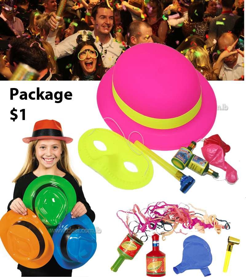 Party time new year party kit neon cotillon