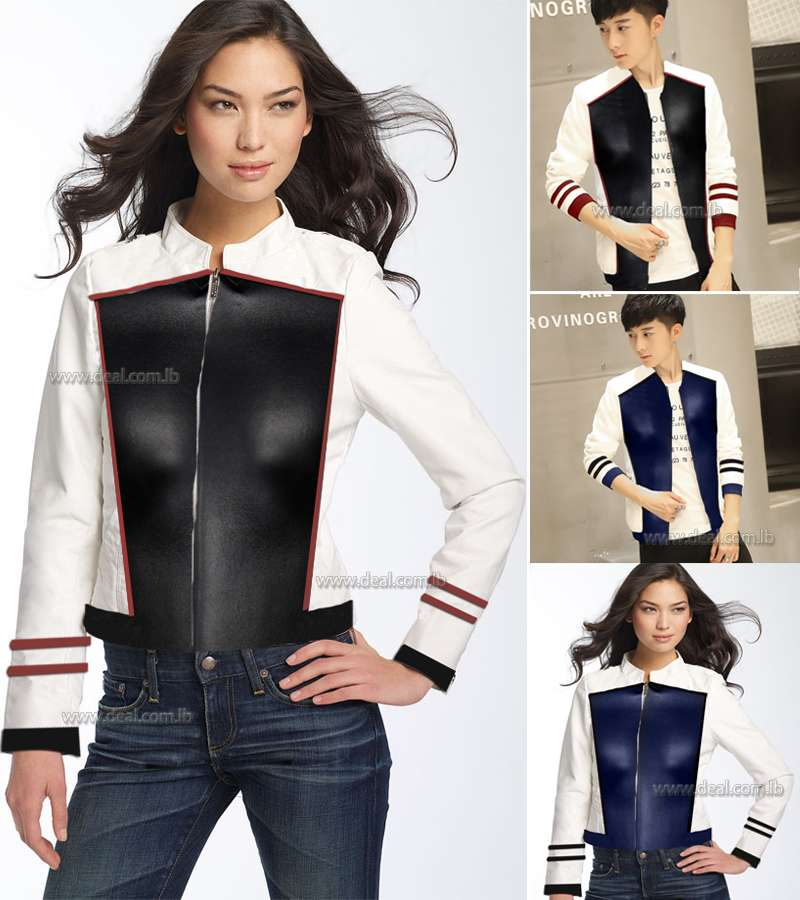 White Leather jacket Teenagers Slim Motorcycle jackets New Fashion teenager outwear Jackets Leather clothing