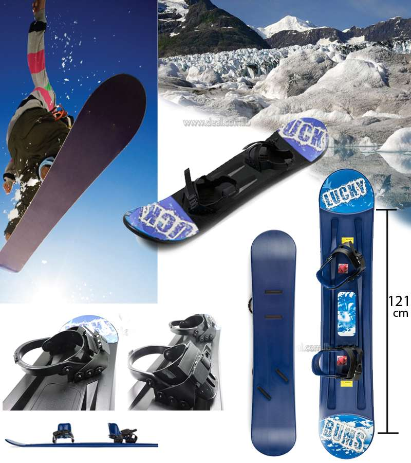 121cm*21cm Lucky Bums Kids Plastic Snowboard