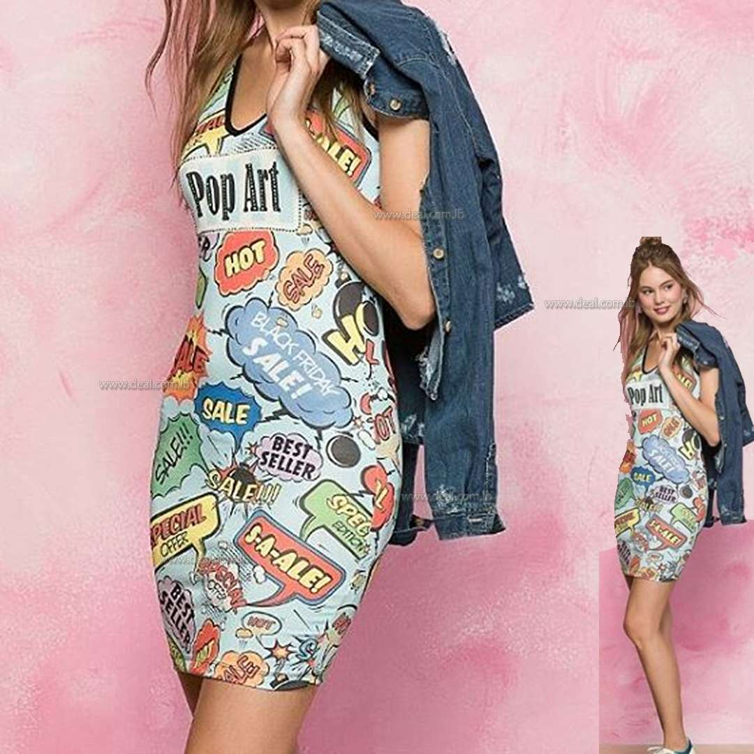Pop Art Casual Art Design Dress