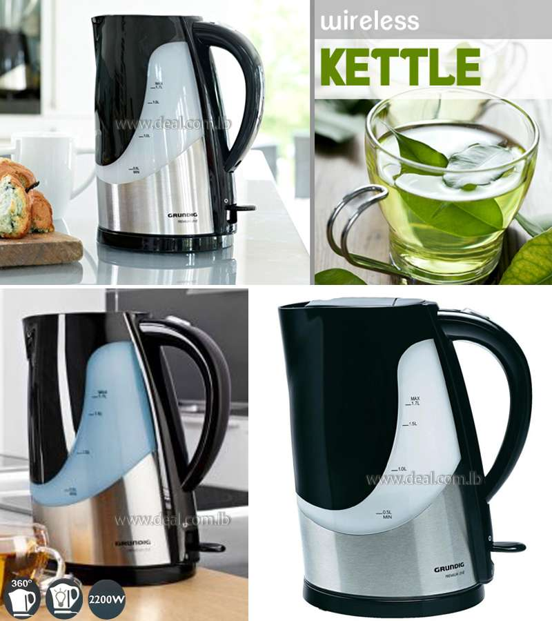 1.7-Litre Grundig Cordless Kettle featuring automatic switch off and a 360 degree base