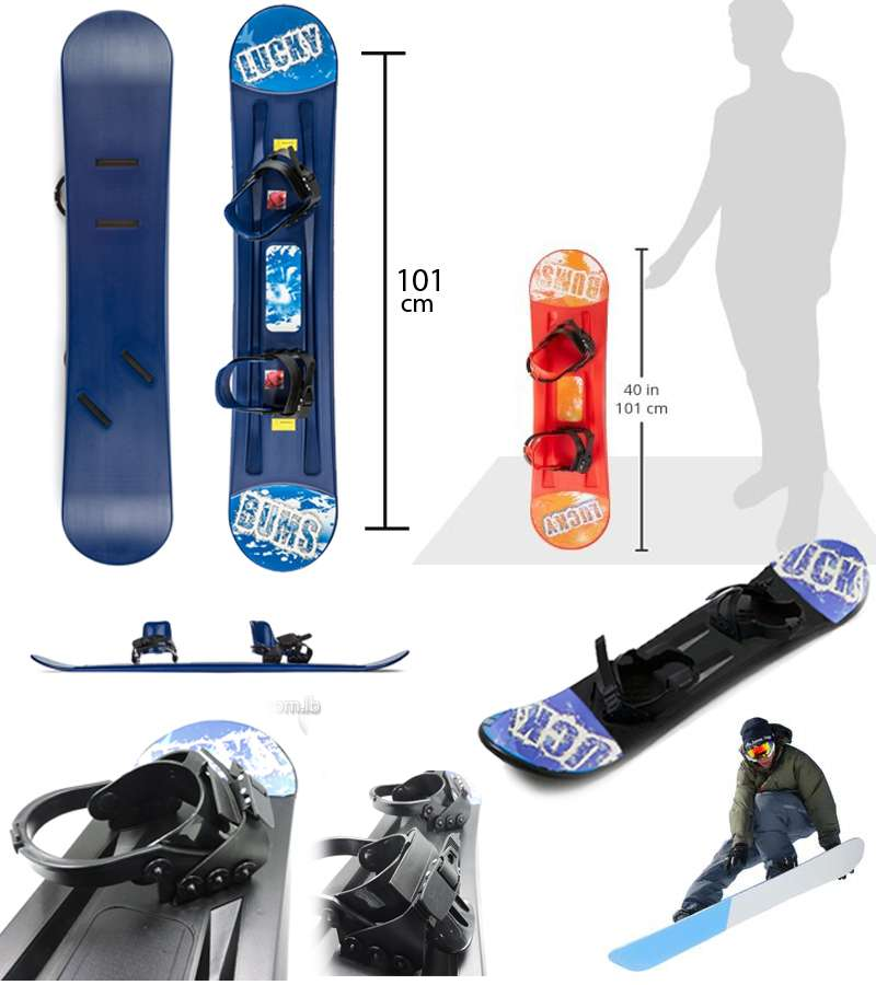 101cm*21cm Lucky Bums Kids Plastic Snowboard