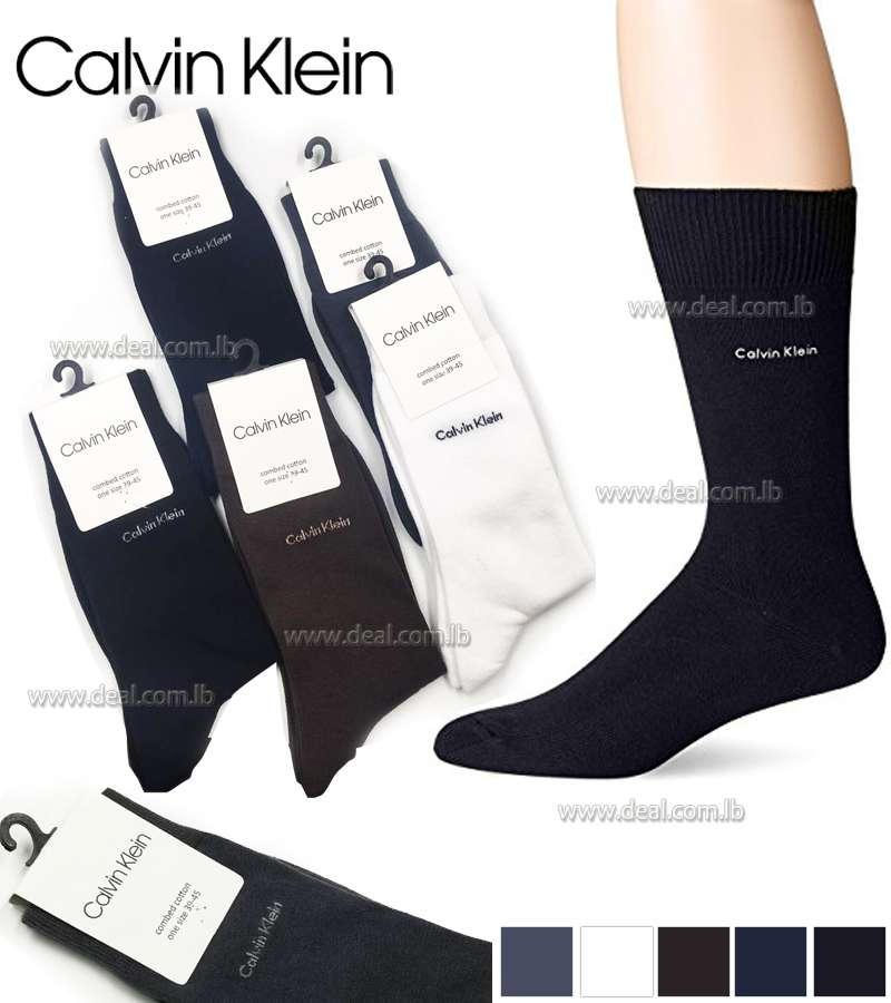 Calvin Klein Mens Signature Flat Knit Socks