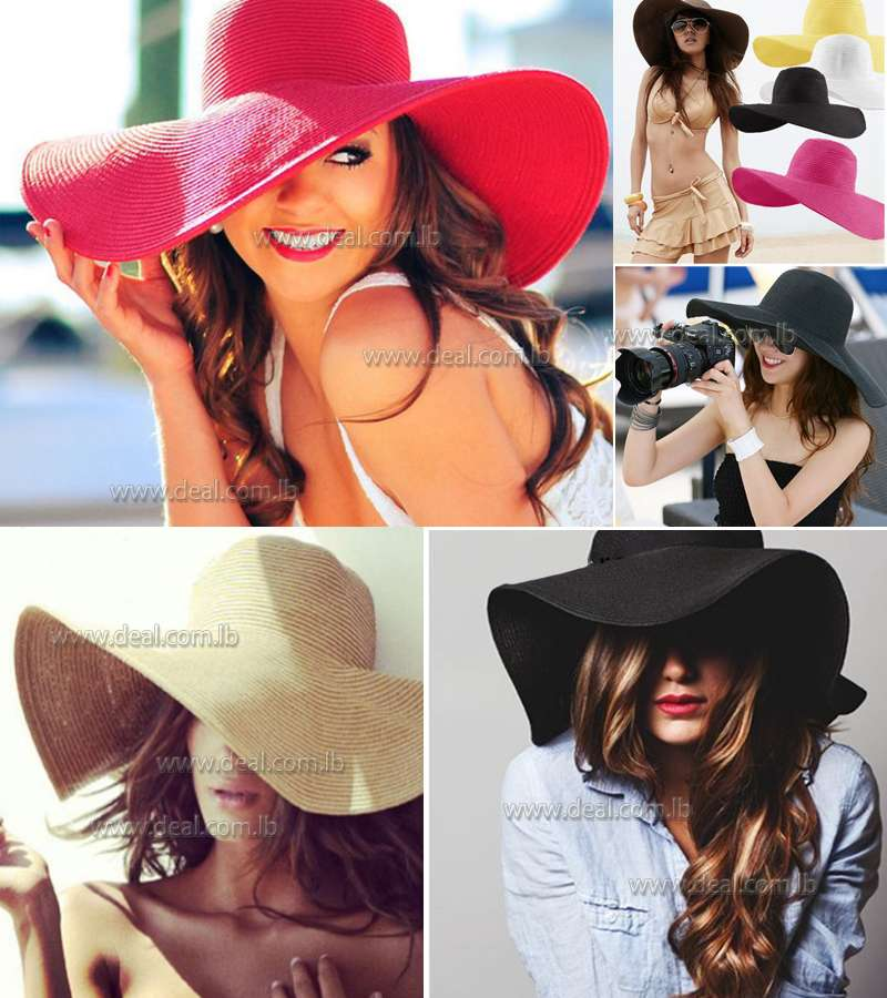Brim Floppy Straw Sun Hat Beach Women Hat Summer