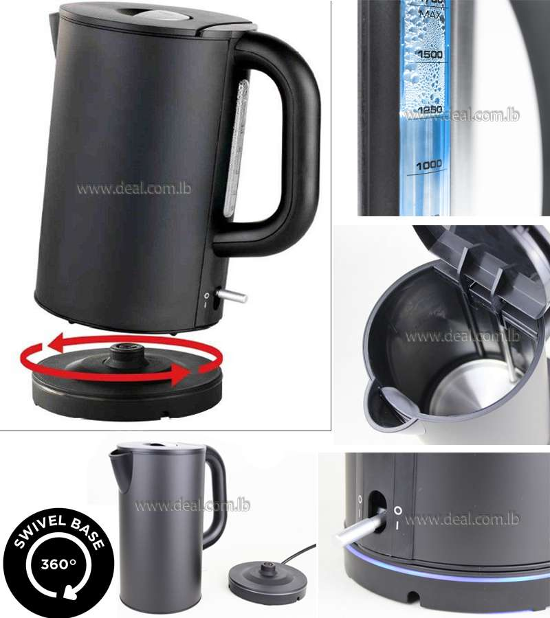 Design Metal Water electric kettle LED Lighting Wireless LED Lighting 2200W