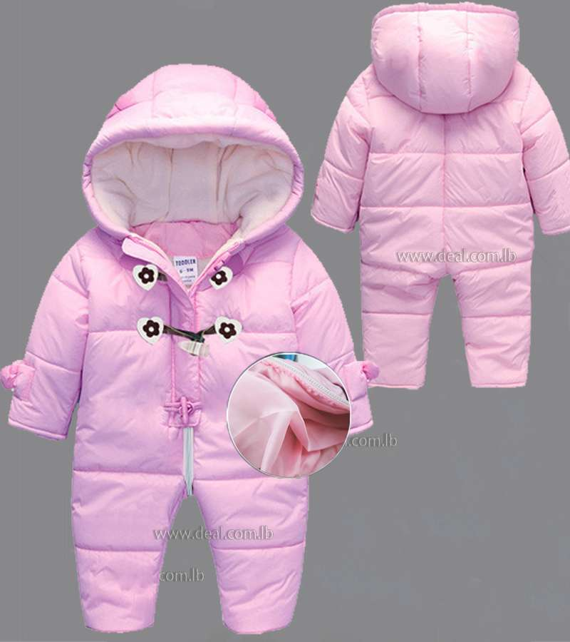 winter infant snowsuit , baby down jacket kombenizon , thicken winter coats ,parka warm jumpsuits Brand baby clothes