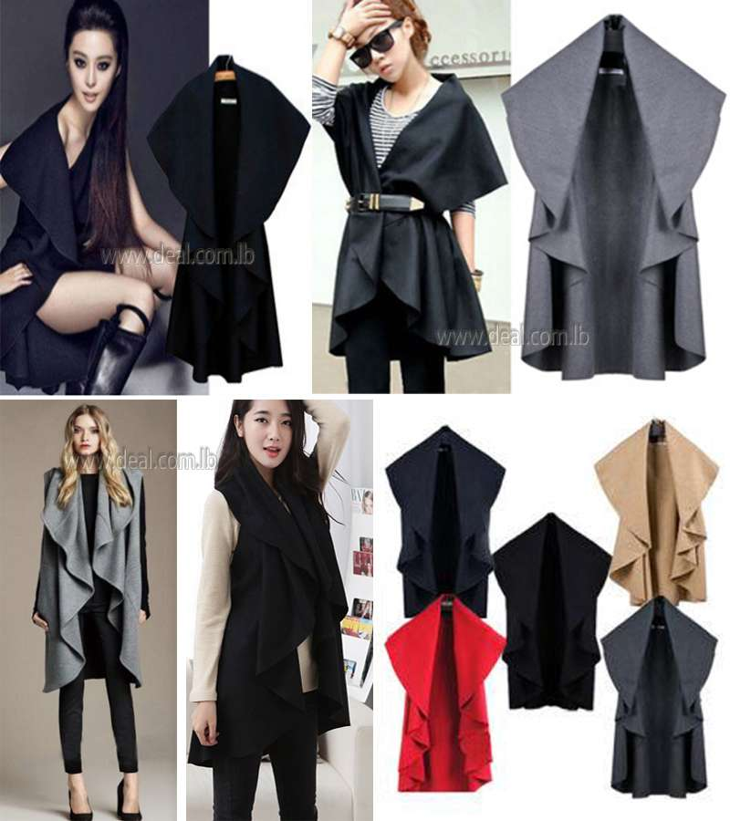 WOMEN�S FASHION LONG WOOL WINTER COATS NOBLE ELEGANT CAPE SHAWL PONCHO WRAP SCARVES SPRING AUTUMN LADIES TRENCH COAT